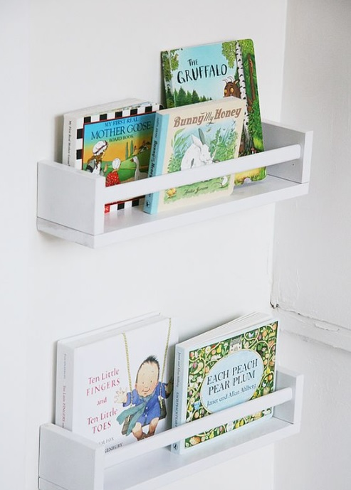 Book storage idea for kids' room