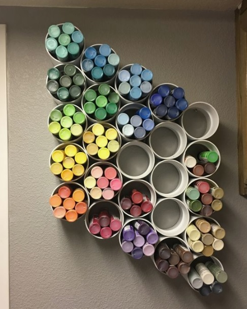 DIY toy storage idea for small space