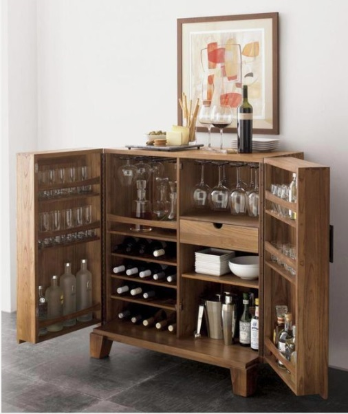 Console table with Bar