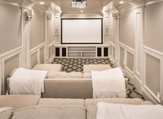 classic home theater room